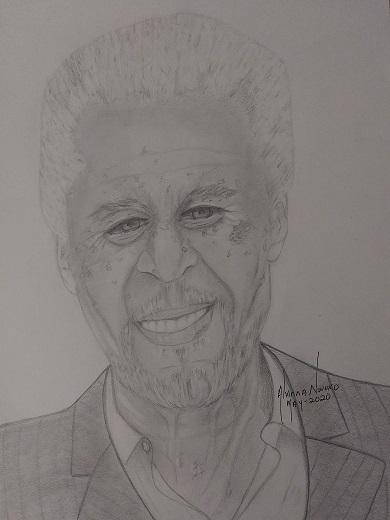 Morgan Freeman by Vinna